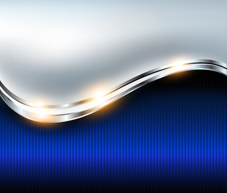 Abstract background elegant blue silver, vector