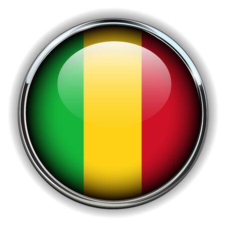 Republic of Mali flag button