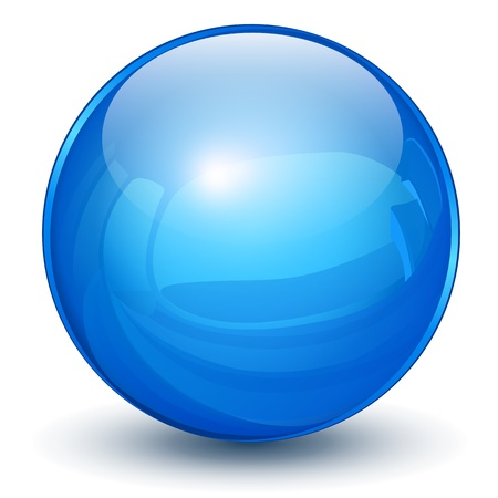 Glossy sphere 3D blue