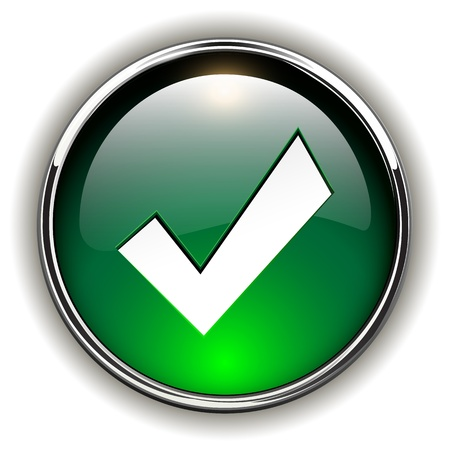 Accept green icon, button