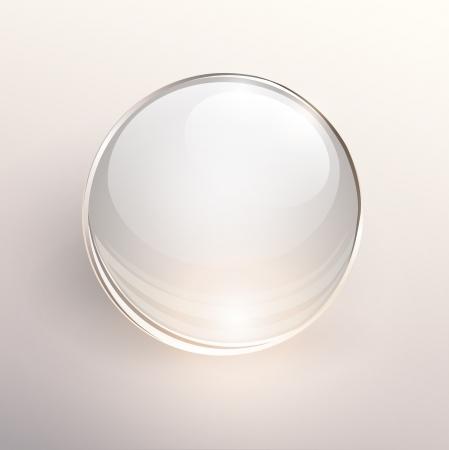 Empty glass ball on light background, .