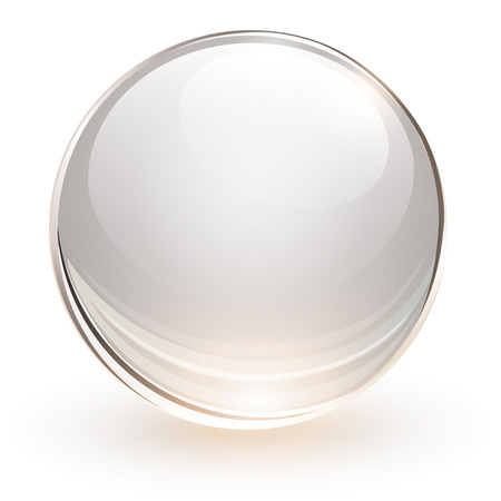 3D glass sphere, vector illustration のイラスト素材