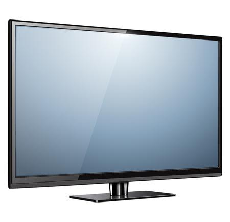 TV, modern flat screen lcd, led, vector illustration.