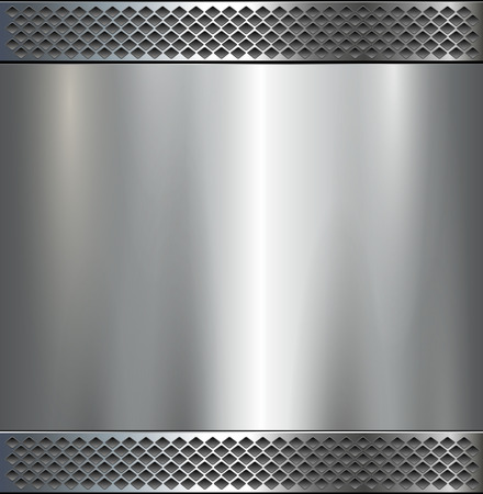 Metallic background polished steel texture, vector design : Royalty
