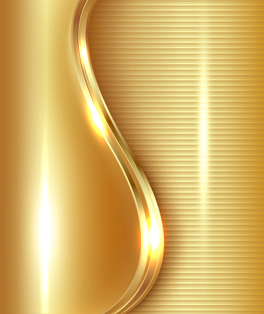 Abstract gold background illustration.
