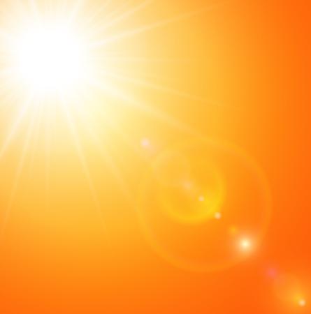 Illustration pour Summer natural  background with sun and lens flare. - image libre de droit