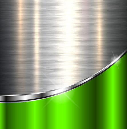 Ilustración de Metallic background polished steel texture, vector design. - Imagen libre de derechos