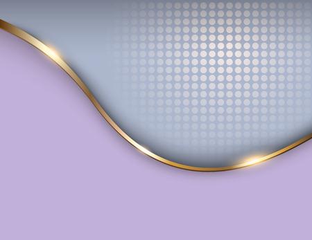 Illustration pour Business background grey and gold, elegant vector illustration. - image libre de droit