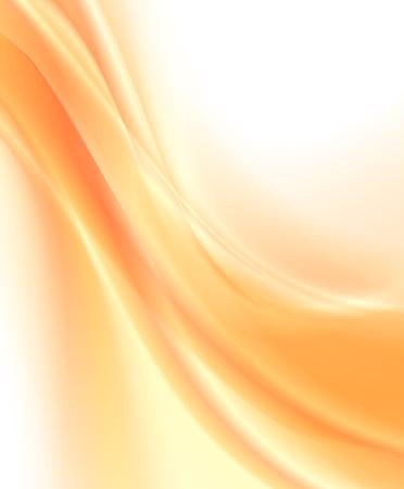 Illustration for Abstract orange background, wavy vector illustration - Royalty Free Image