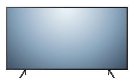 Illustration pour Monitor TV isolated, front view, vector illustration. - image libre de droit