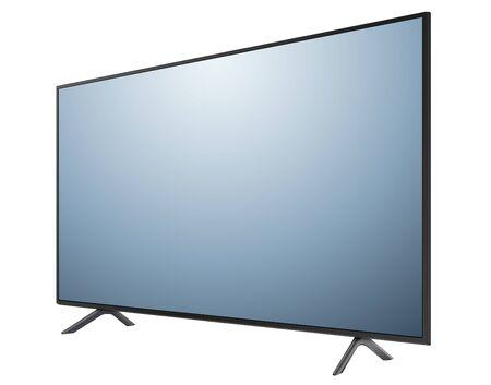 Illustration pour Monitor TV isolated, 3D vector illustration. - image libre de droit