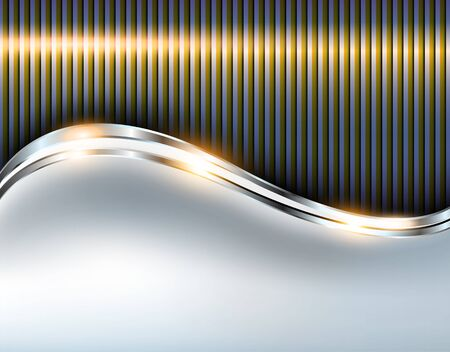 Illustration for Elegant metallic background, shiny vector design. - Royalty Free Image