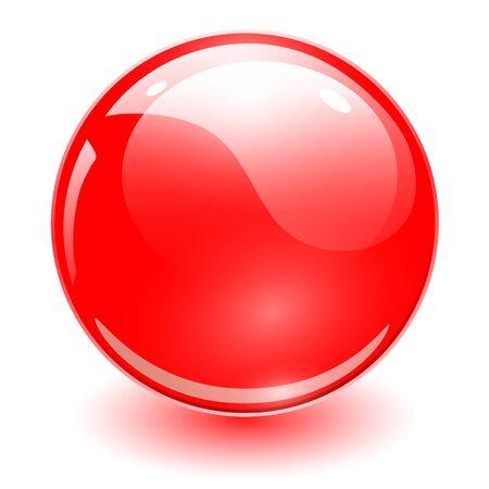 Illustration pour Glass sphere red, vector shiny ball. - image libre de droit