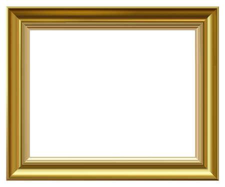 Illustration pour Golden vintage style vector frame isolated on white. - image libre de droit