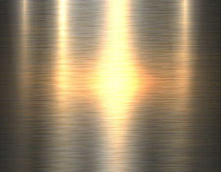 Illustration for Metal gold texture background, golden brushed metallic texture plate, vector illustration. - Royalty Free Image