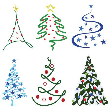 Christmas Tree Design Set – Six tree designs in set