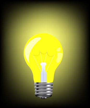 Luminous electric light bulb