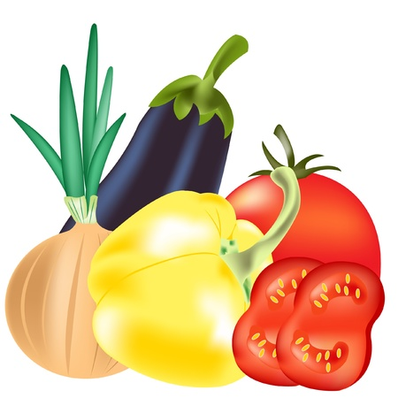 Illustration vegetables on white background is insulated