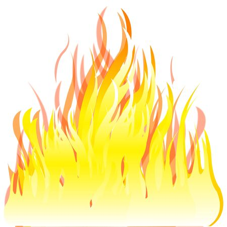 Illustration of the fire on white background