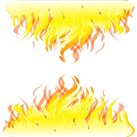Colorful background from burning fire on white