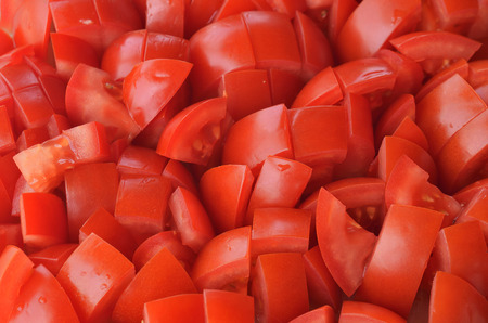 Chopped tomatoes pieces texture pattern
