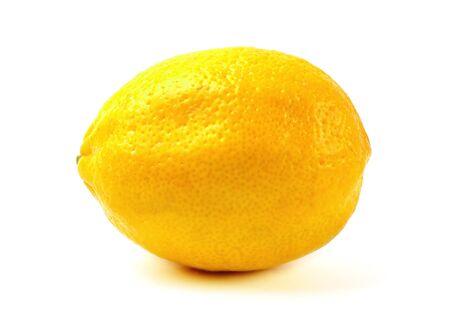 Photo for Lemon isolated on white background. Close-up detail. - Royalty Free Image