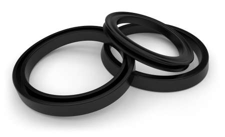 Rubber sealing isolated on white
