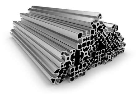 Photo pour Aluminum profile - image libre de droit