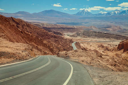 Driving to the Atacama desert