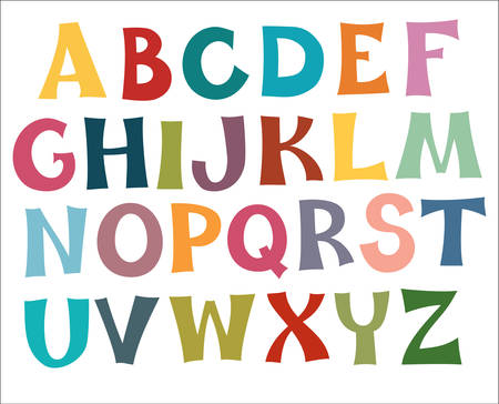 Illustration pour The English alphabet multi colors. Draw. - image libre de droit