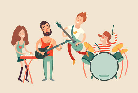 Illustration pour Music party poster, vector illustration - image libre de droit