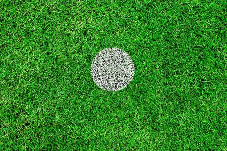 The white spot on a football pitch,center spot,penalty spot