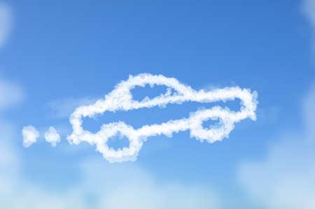 Cloud shaped as car ,dream concept