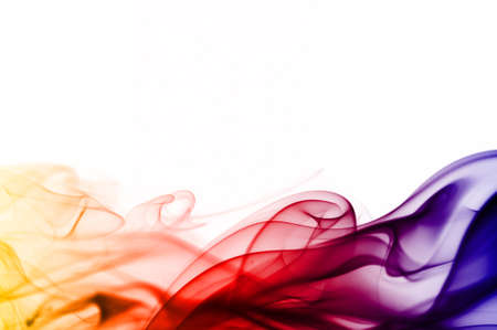 Photo pour colored smoke isolated on white background - image libre de droit