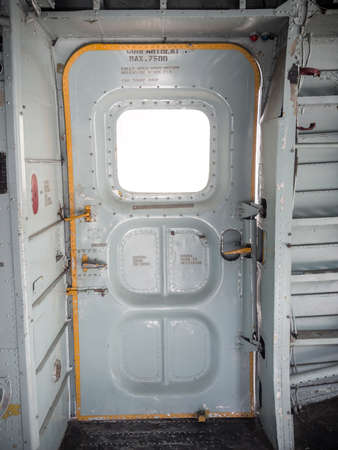 Old military aviation aircraft  door