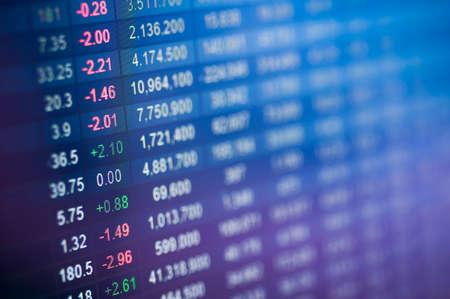 Photo pour Stock market number on screen display - image libre de droit