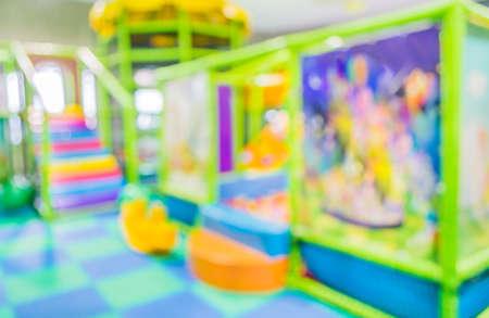 blur colorful plastic balls on children's playground .
