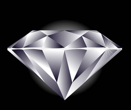 Diamond illustration on a black background.