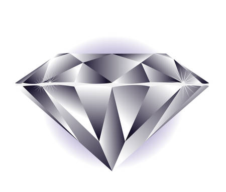Diamond illustration on a white background.