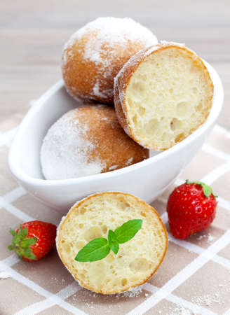 fresh baked quark balls in a bowl