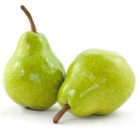 Foto für two pears isolated on white background  - Lizenzfreies Bild