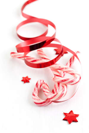red white candy canes for christmas