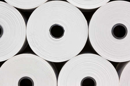 A set of White Paper Rolls fro POS Printers