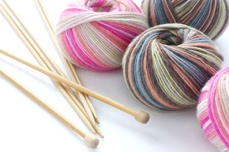 knitting sock yarn balls with noodles
