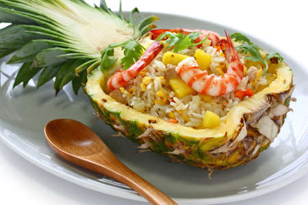 pineapple fried riceの写真素材