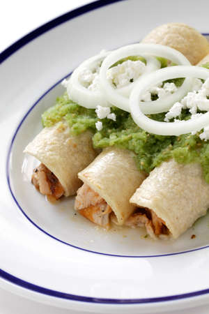 chicken enchiladas verde, mexican cuisine