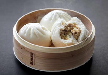 steamed pork buns, chinese dim sum