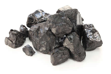 coal isolated on white backgroundの素材 [FY31027463628]