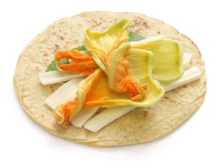 squash blossom quesadillas, Mexican food, quesadillas de flor de calabaza