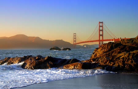 Baker Beach is a state and national public beach on the Pacific Ocean coast, on the San Francisco peninsula